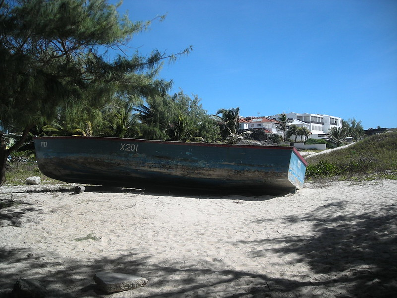 Barbados silver sands fishing boat