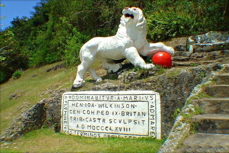 Barbados Gun Hill lion statue