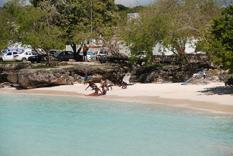 Barbados Rocks on the beach