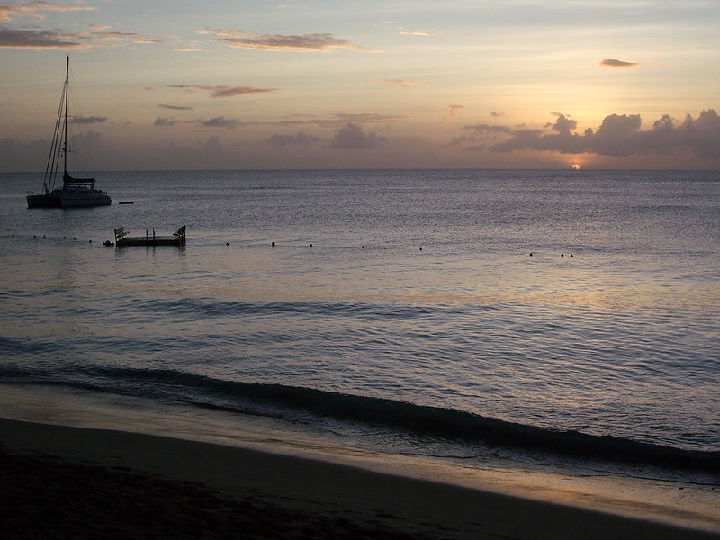 Barbados Mullins Beach sunset